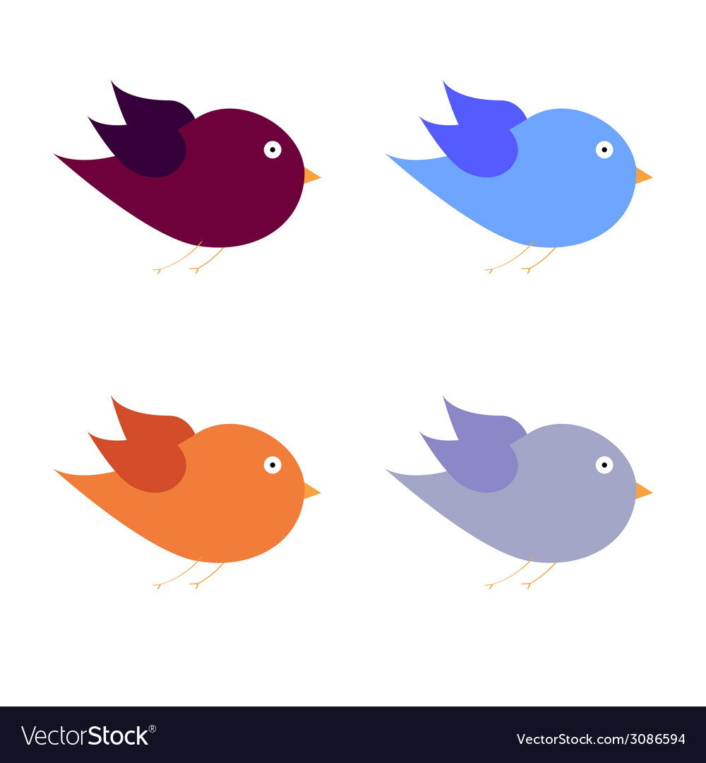 Beauty bird color art vector | Price: 1 Credit (USD $1)