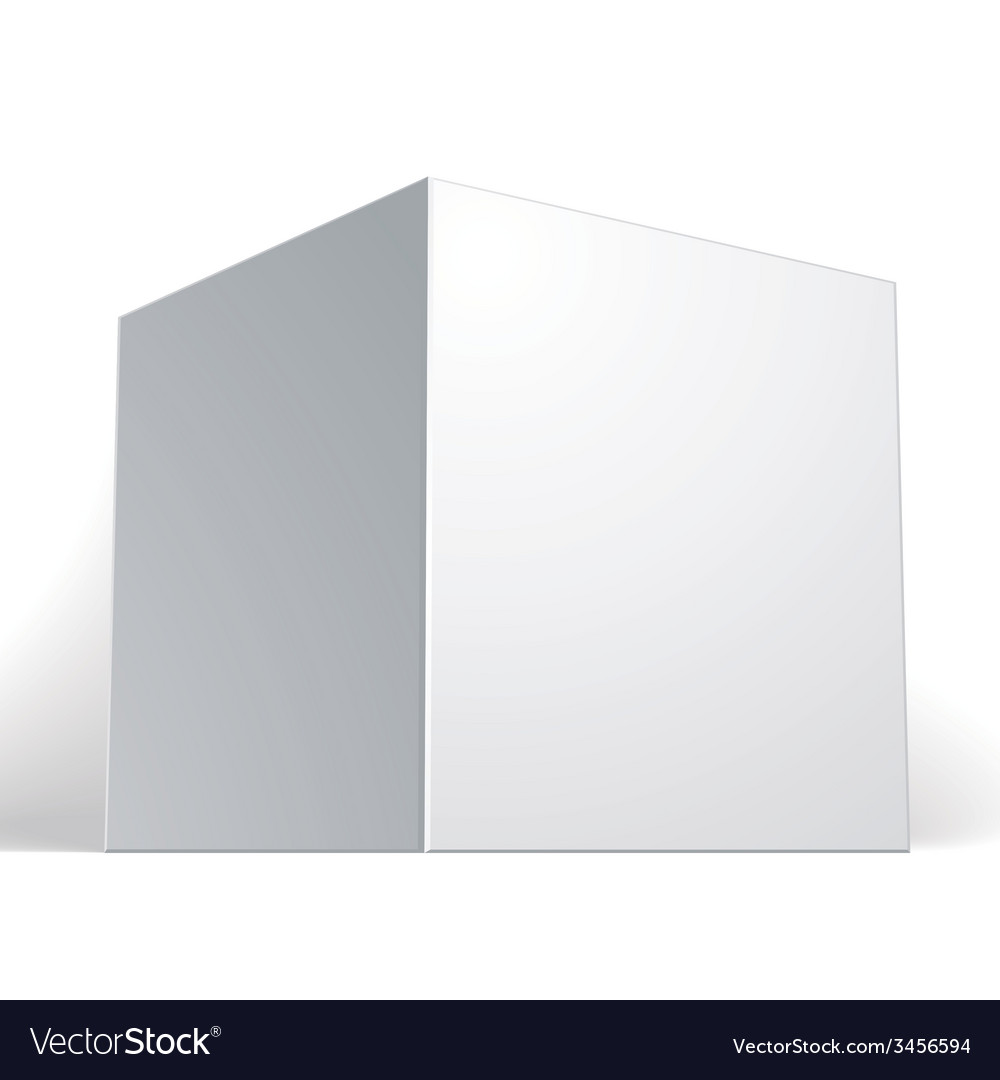 Blank box isolated on white background template vector   Price: 1 Credit (USD $1)