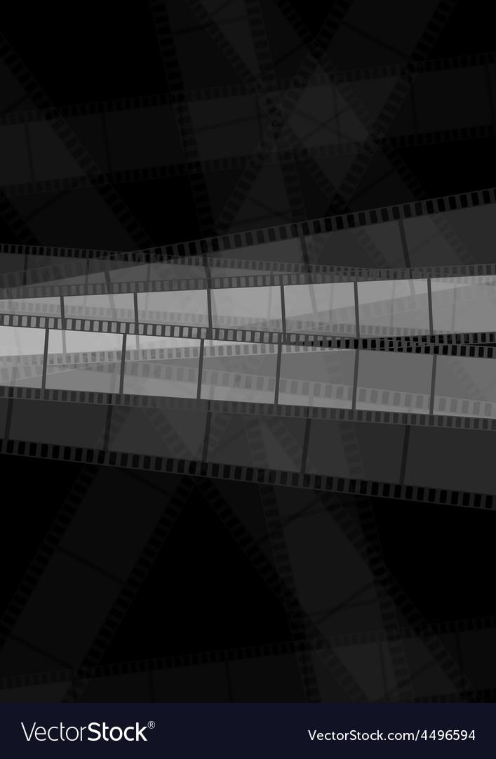 Dark monochrome filmstrip abstract background vector | Price: 1 Credit (USD $1)