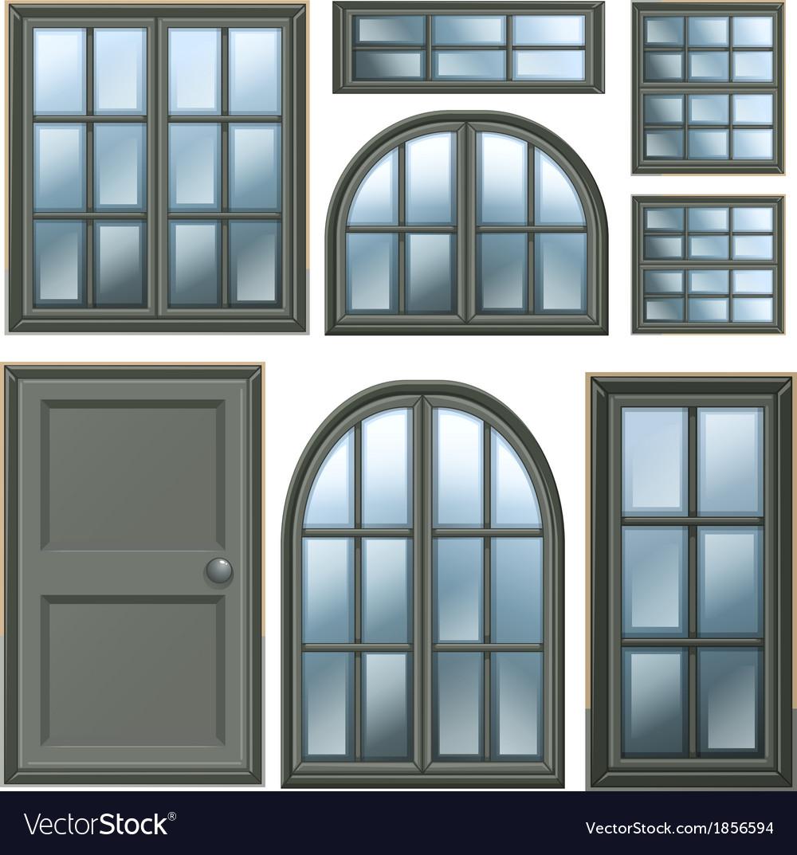 Different windows design vector | Price: 1 Credit (USD $1)
