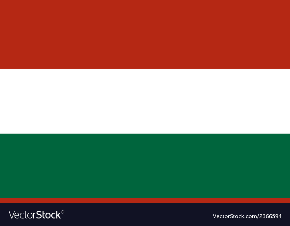 Flag of hungary vector | Price: 1 Credit (USD $1)