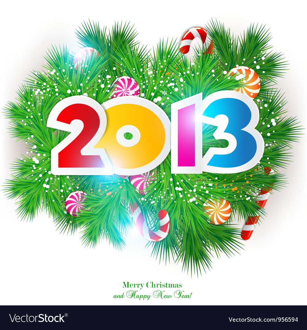Happy new year 2013 design element vector | Price: 1 Credit (USD $1)