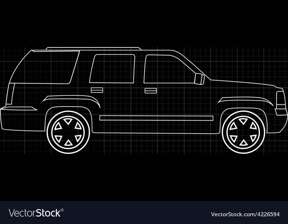 Line of car vector | Price: 1 Credit (USD $1)