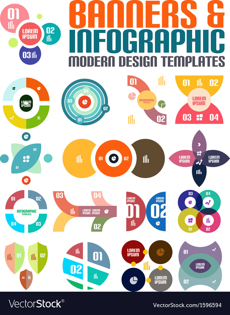 Modern geometrical abstract infographic templates vector | Price: 1 Credit (USD $1)