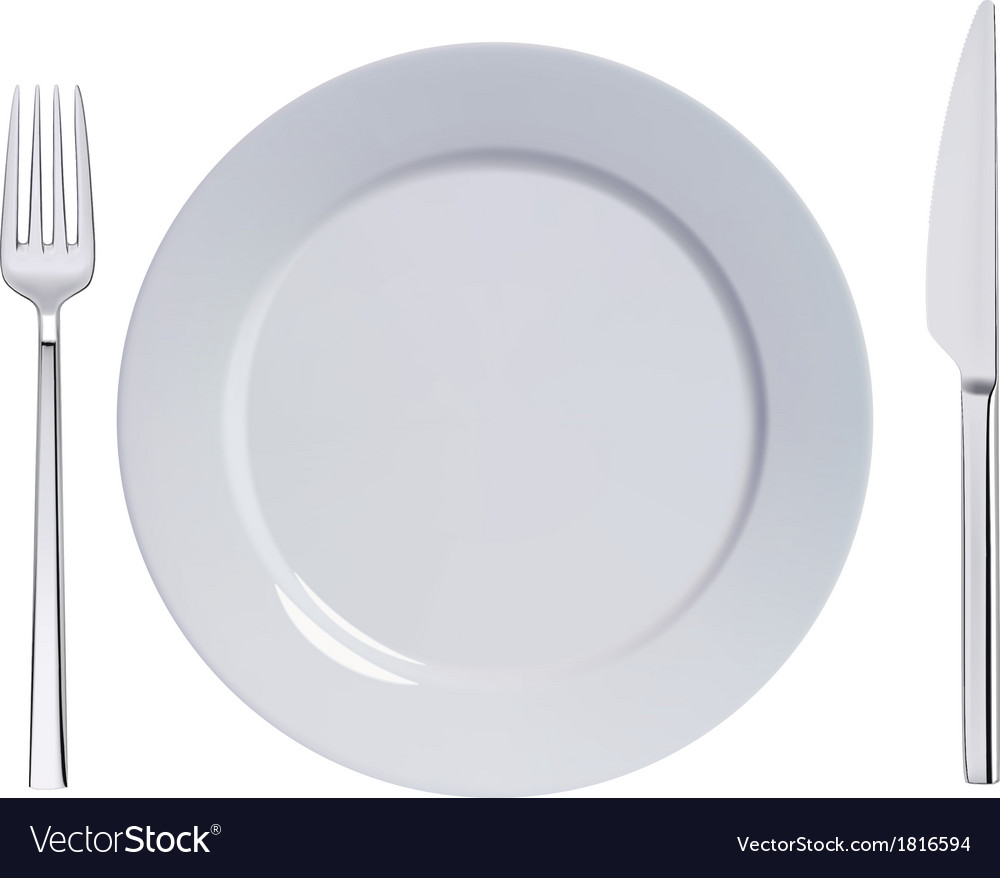 Plate knife and fork vector | Price: 1 Credit (USD $1)