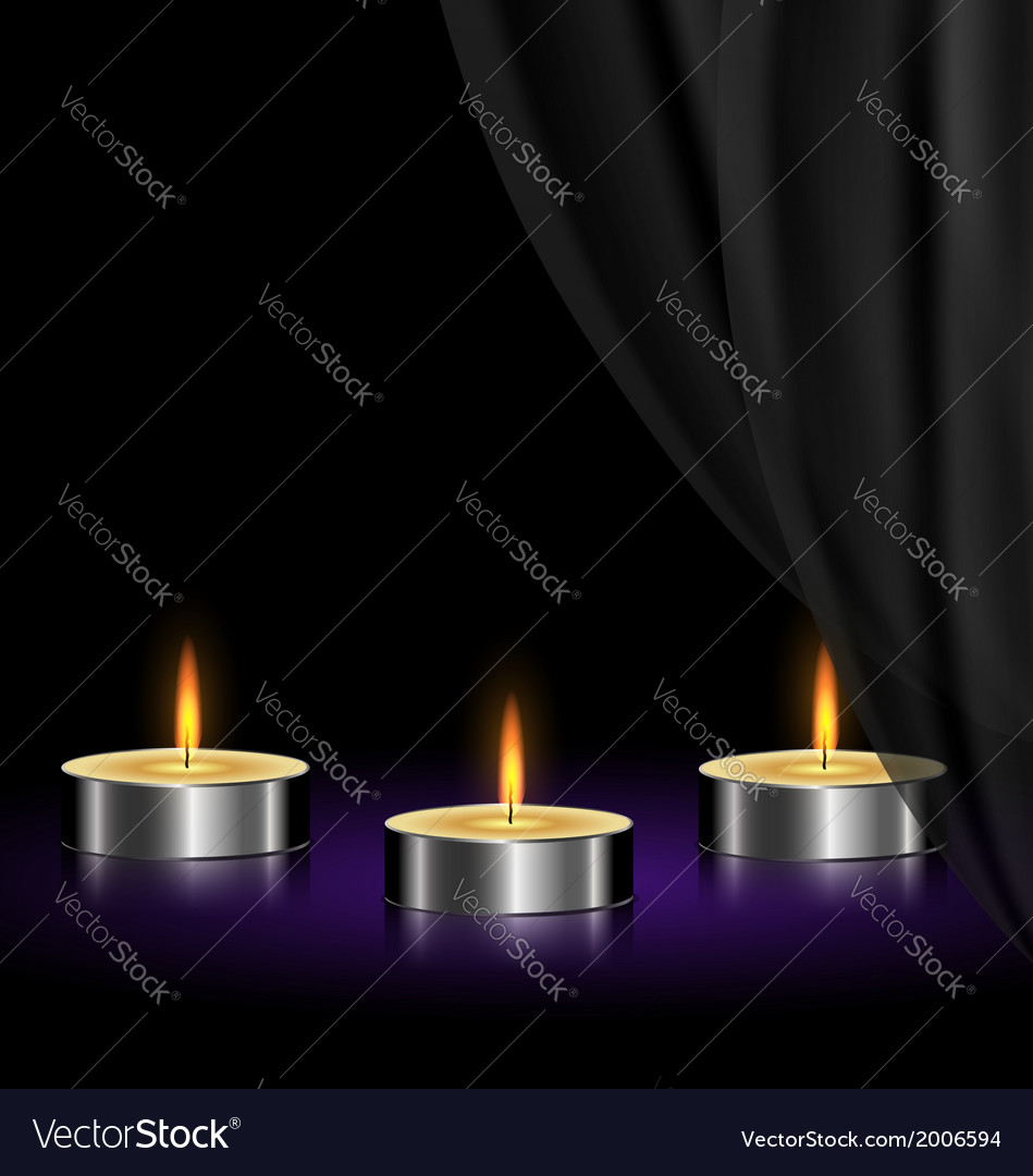 Sad candles vector | Price: 1 Credit (USD $1)