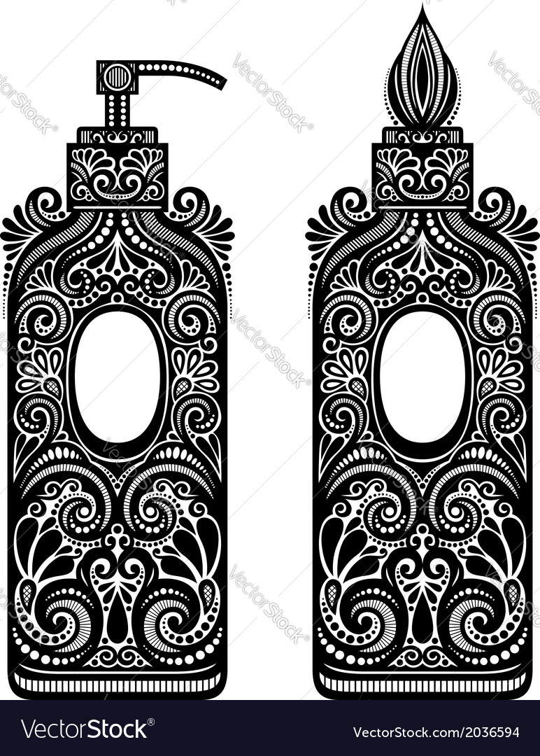 Vintage ornate soap dispenser vector | Price: 1 Credit (USD $1)