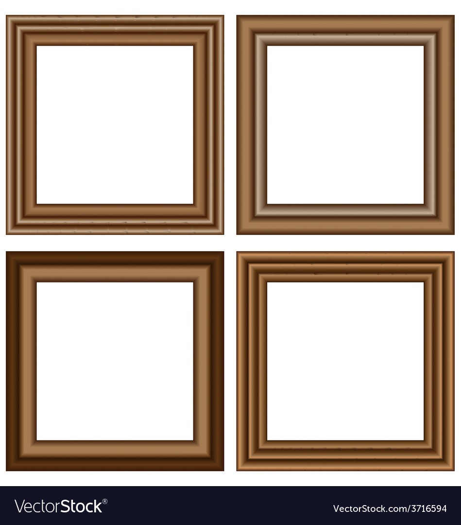 Wooden frames isolated on white vector | Price: 1 Credit (USD $1)