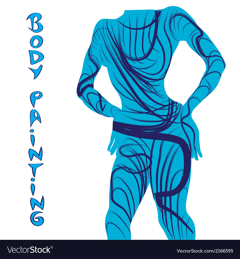 Body painting silhouette vector | Price: 1 Credit (USD $1)