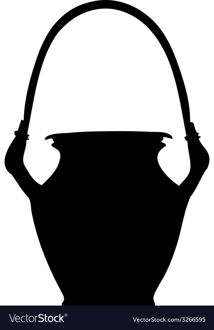 Clay pot silhouette vector | Price: 1 Credit (USD $1)