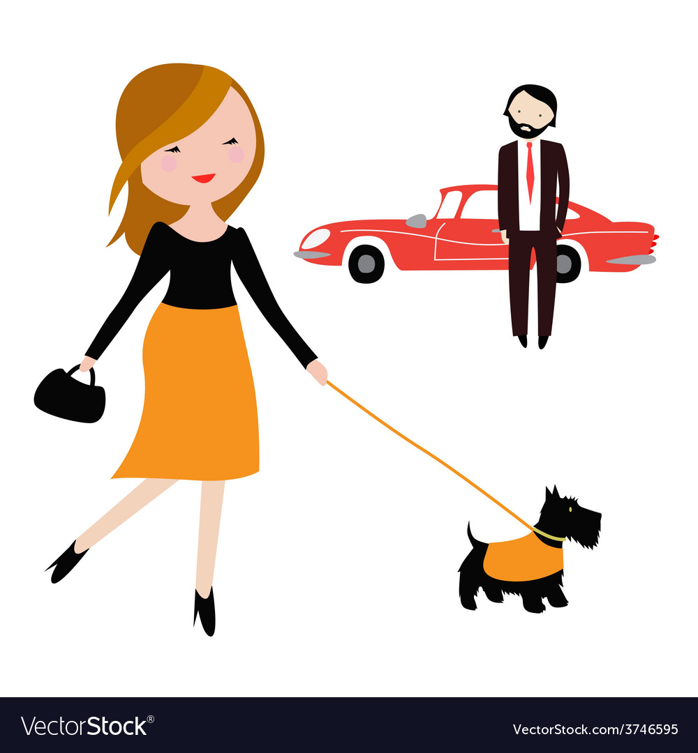 Couple in the city vector | Price: 1 Credit (USD $1)
