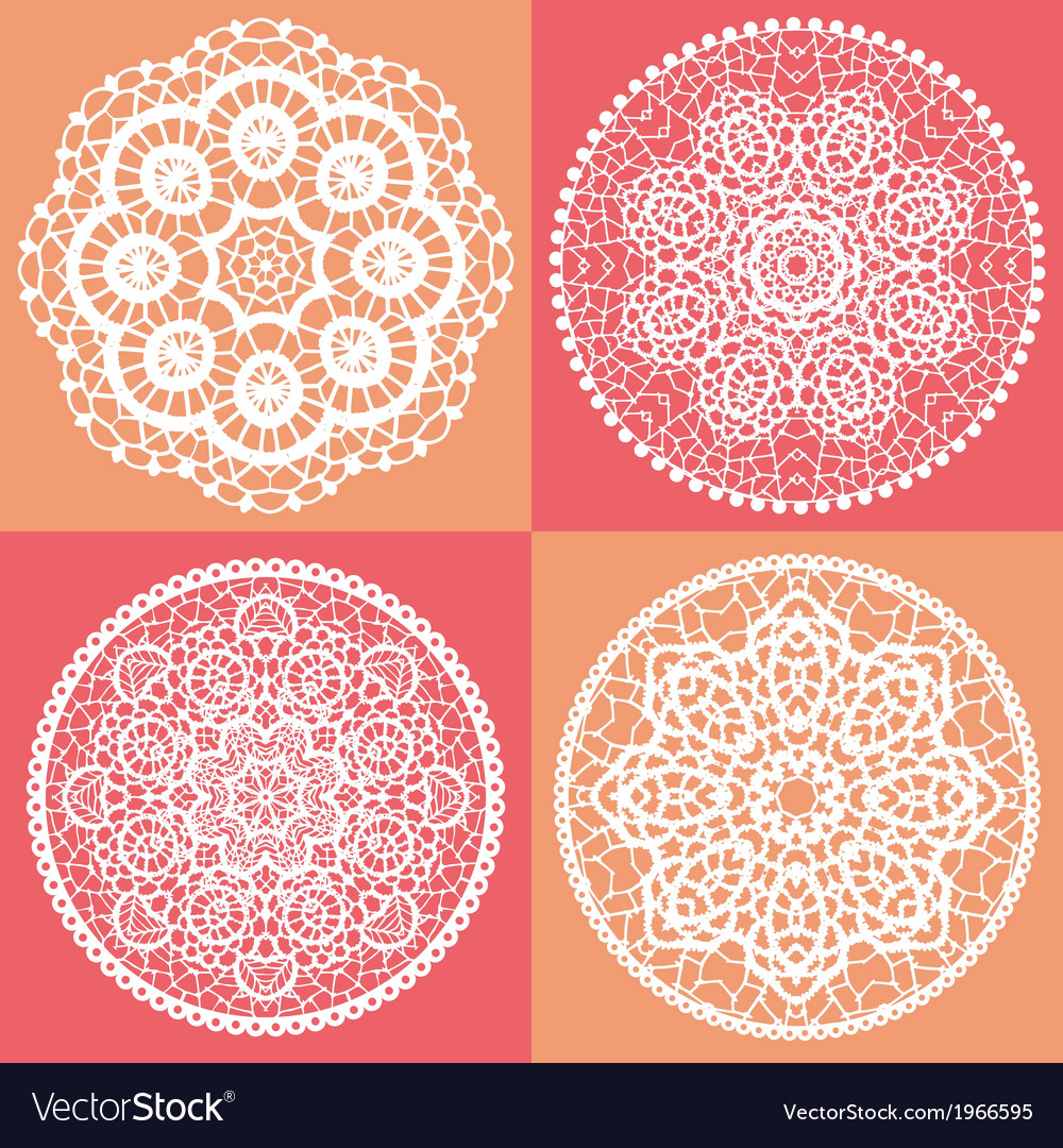 Elegant lace doily backgrounds vector | Price: 1 Credit (USD $1)