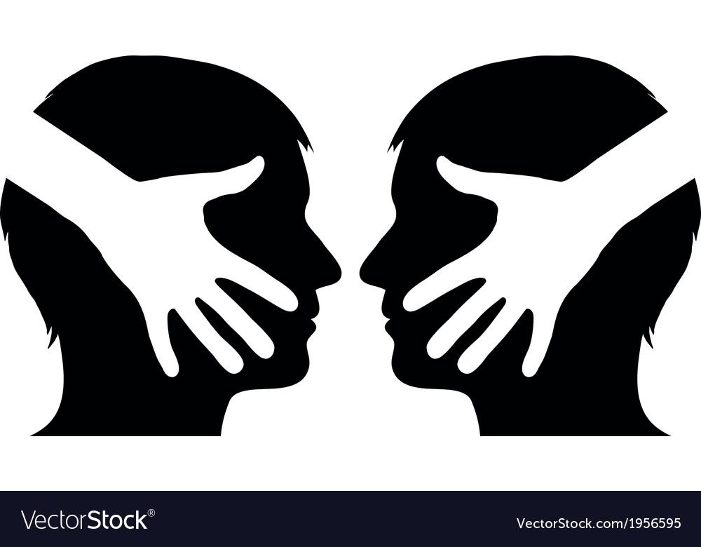 Hand shake between 2 man vector | Price: 1 Credit (USD $1)