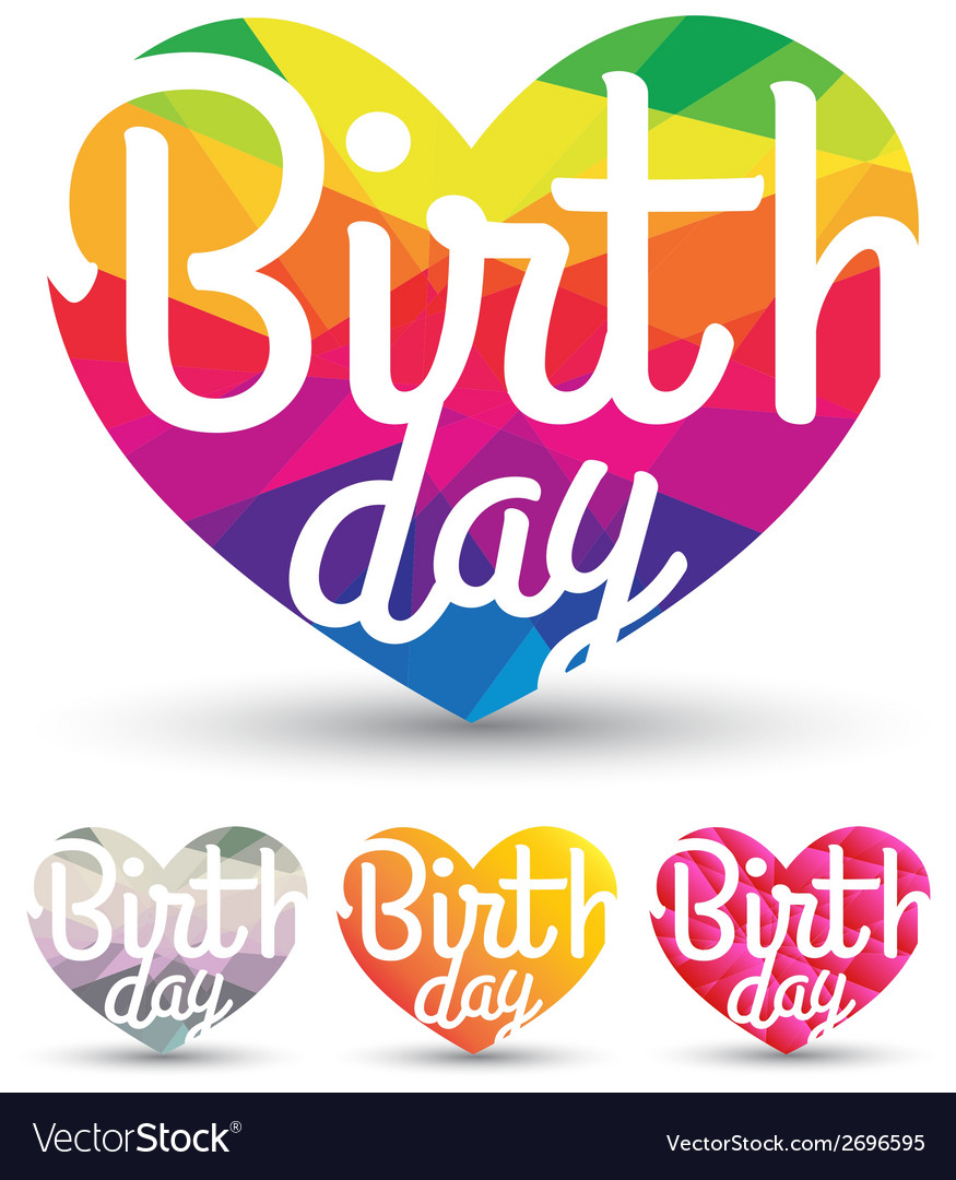 Heart abstract with birth day vector | Price: 1 Credit (USD $1)