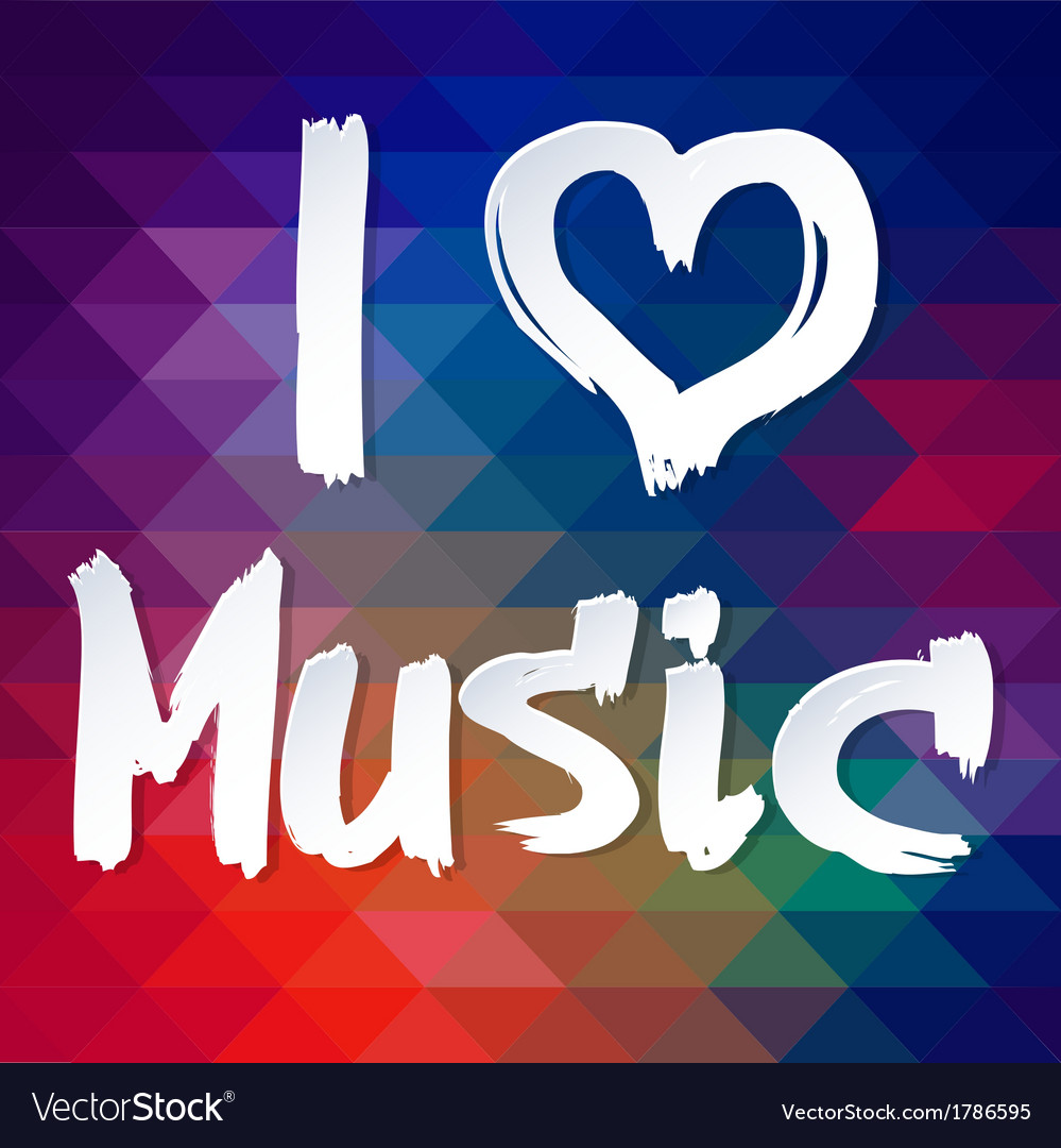 I love music typographical background vector | Price: 1 Credit (USD $1)