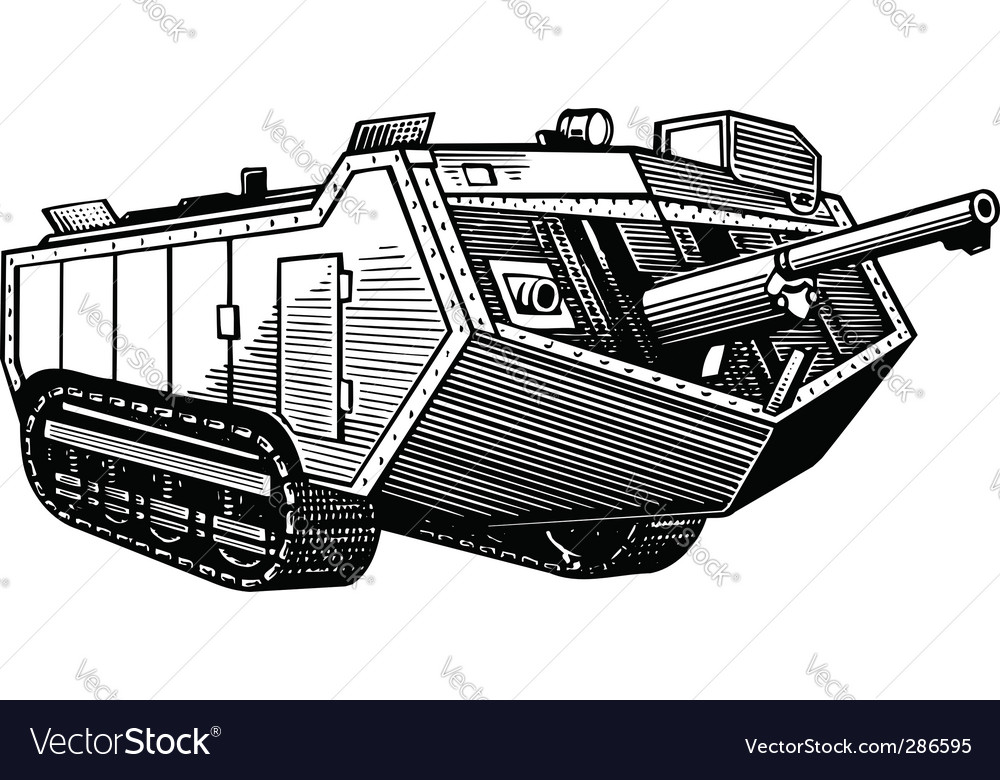 Old tank vector | Price: 1 Credit (USD $1)