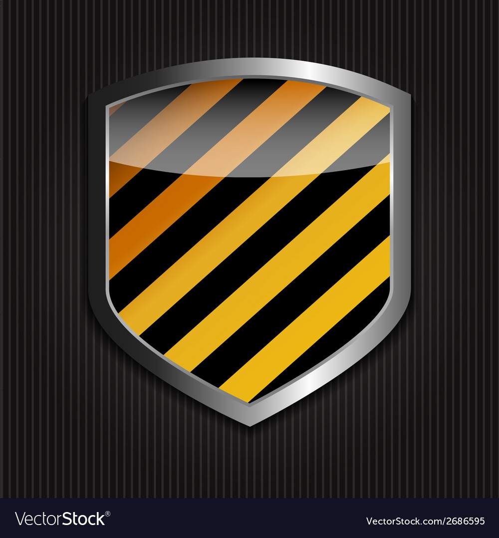 Protect shield on black background vector | Price: 1 Credit (USD $1)