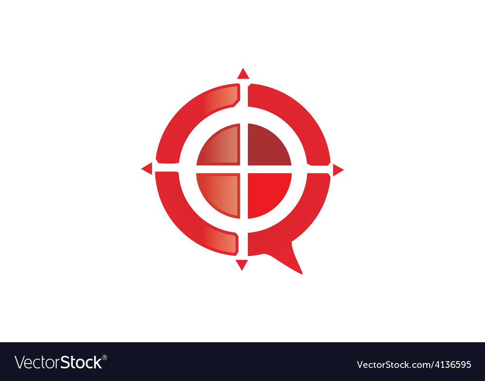 Red target game abstract logo vector | Price: 1 Credit (USD $1)