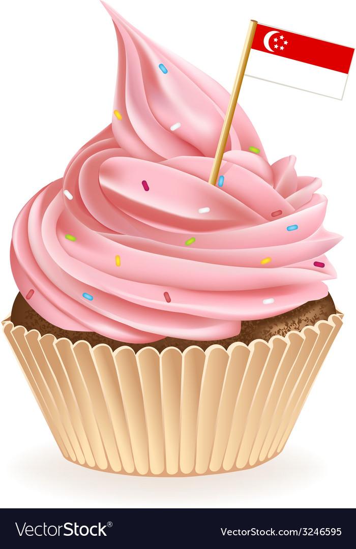 Singapore cupcake vector | Price: 1 Credit (USD $1)