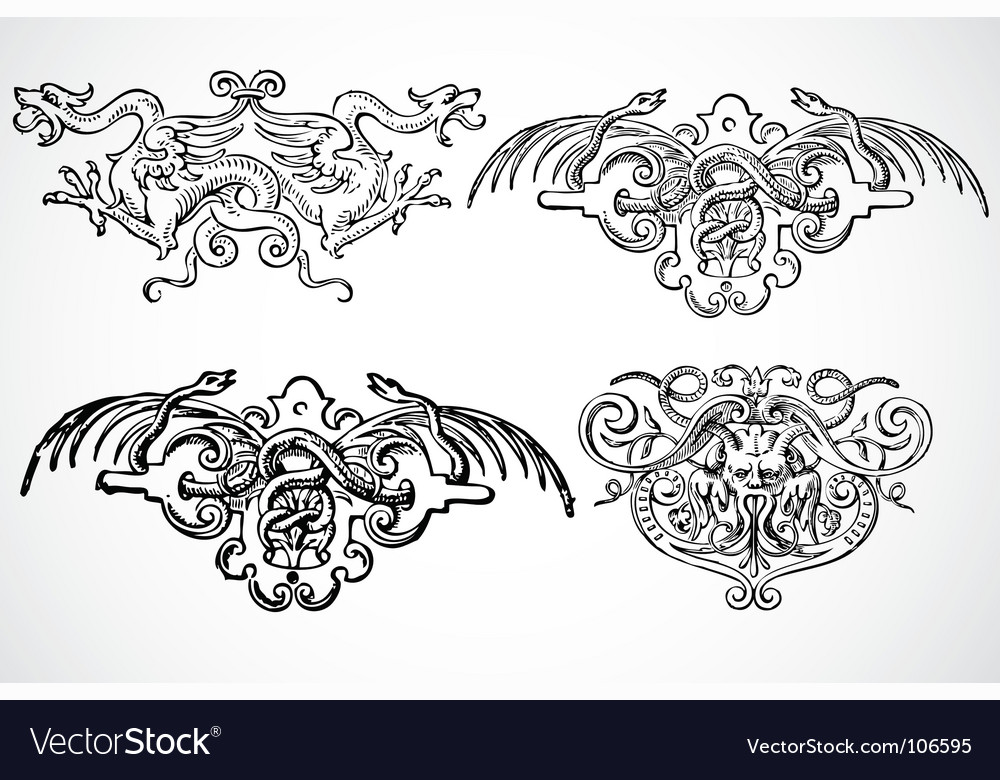 Snake ornaments vector | Price: 1 Credit (USD $1)