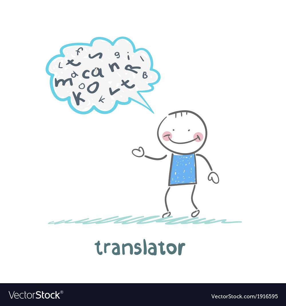 Translator is thinking about letters vector   Price: 1 Credit (USD $1)