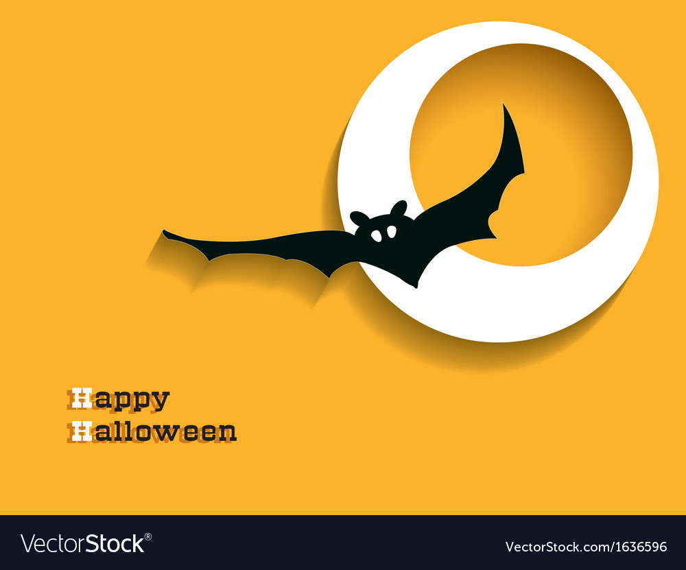 Abstract background for halloween with bat vector | Price: 1 Credit (USD $1)
