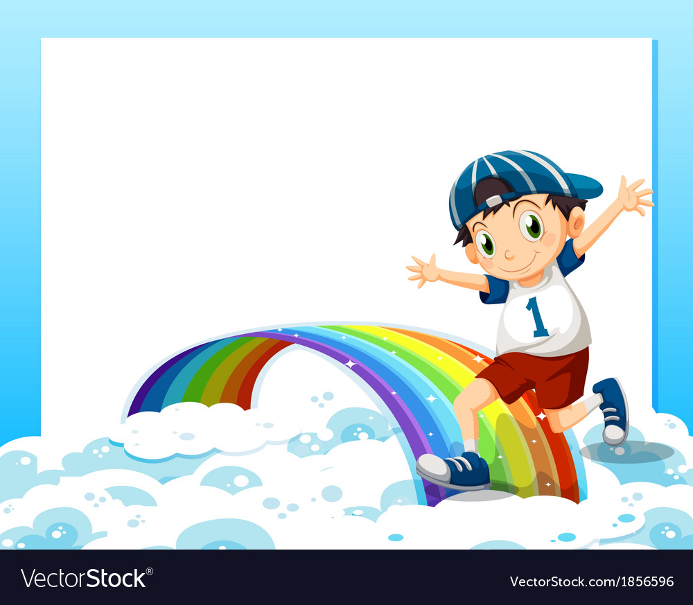 An empty template with a boy playing above the vector | Price: 3 Credit (USD $3)