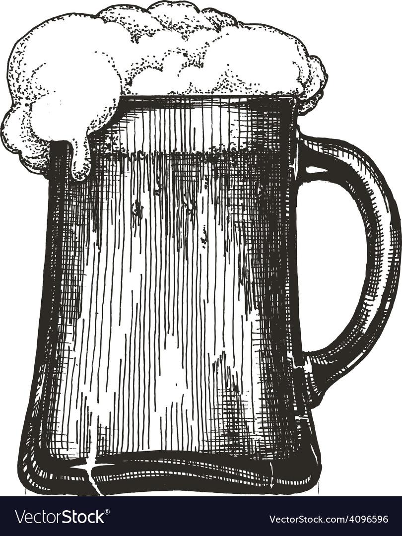 Beer mug logo design template draught beer vector | Price: 3 Credit (USD $3)
