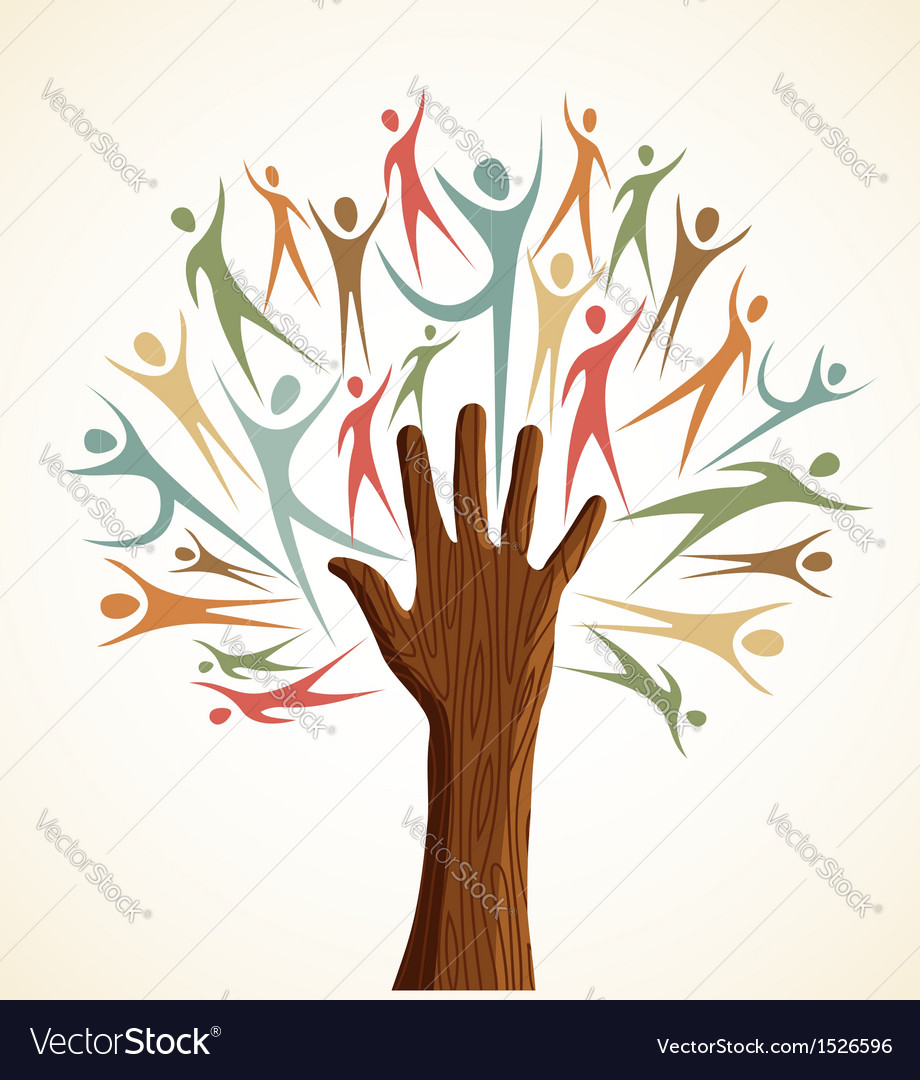 Familiy human hand tree vector | Price: 1 Credit (USD $1)