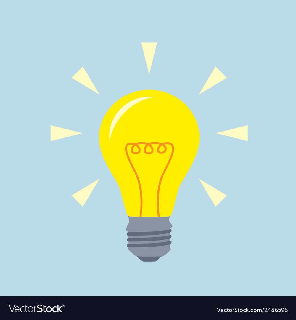 Flat bulb vector | Price: 1 Credit (USD $1)