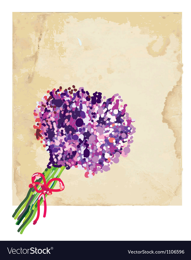 Greeting background with lilac vector   Price: 1 Credit (USD $1)
