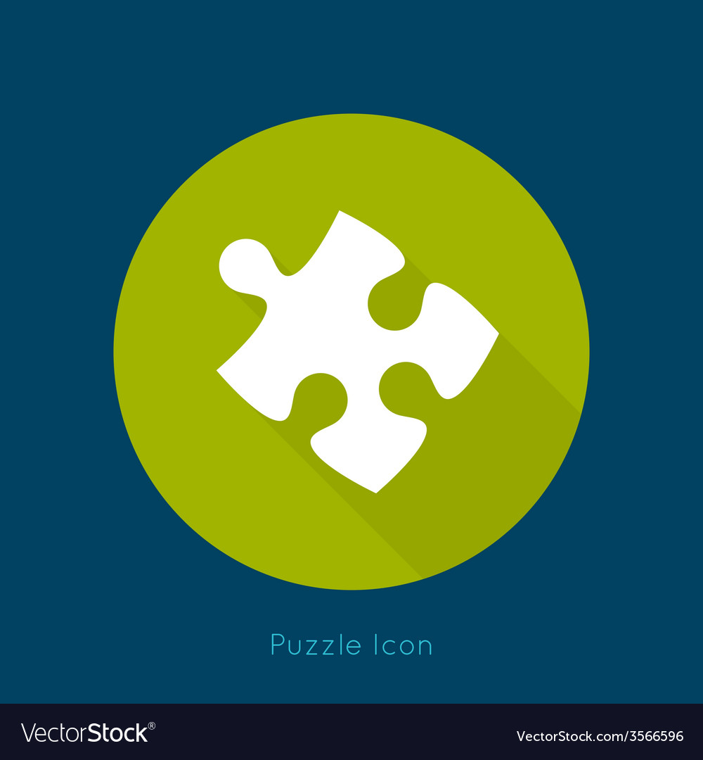 Icon puzzle piece with a long shadow vector | Price: 1 Credit (USD $1)