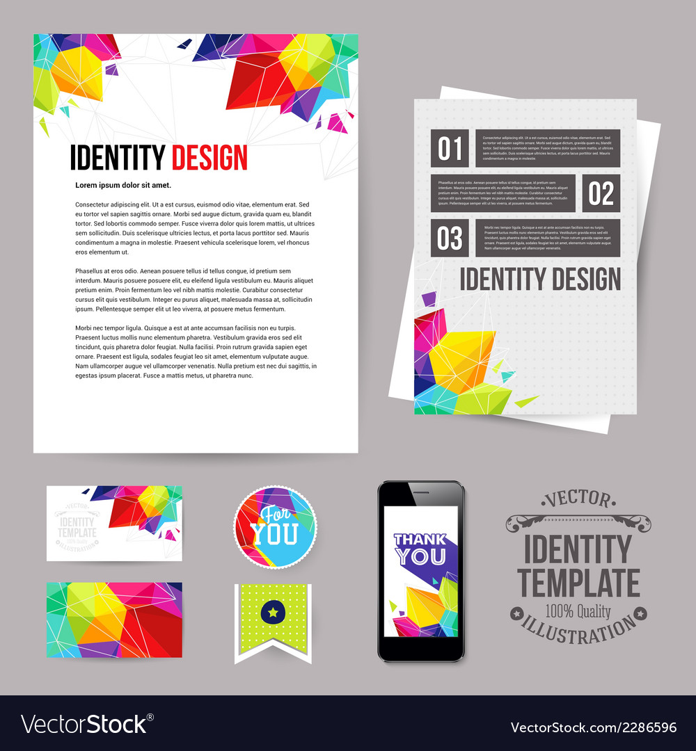 Identity design for your business geometric style vector | Price: 1 Credit (USD $1)