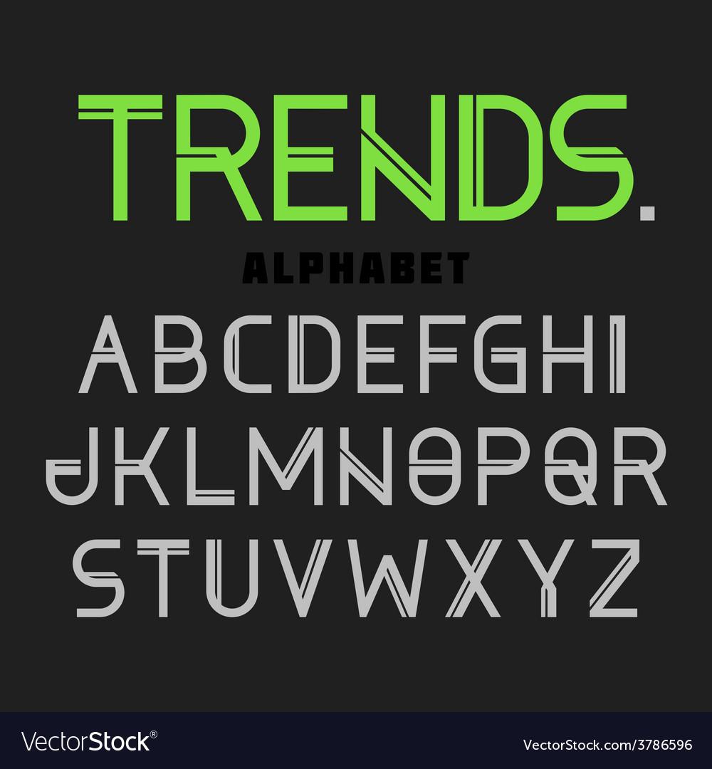 Modern alphabet trends vector | Price: 1 Credit (USD $1)