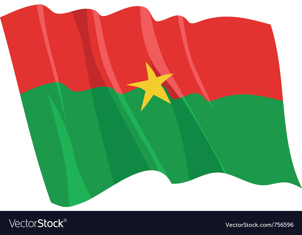Political waving flag of burkina faso vector | Price: 1 Credit (USD $1)