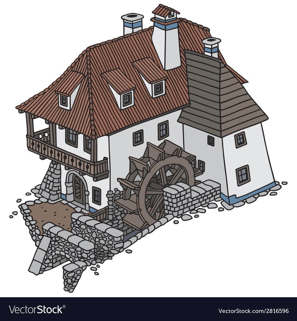 Water mill vector | Price: 1 Credit (USD $1)