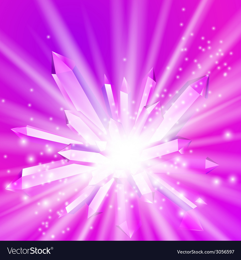 A crystal with rays vector | Price: 1 Credit (USD $1)