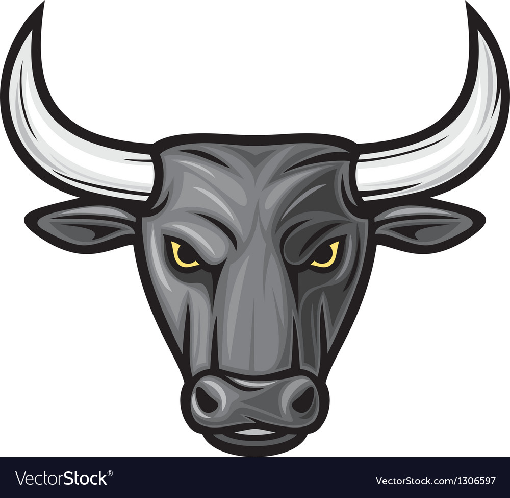Black bull head vector | Price: 3 Credit (USD $3)