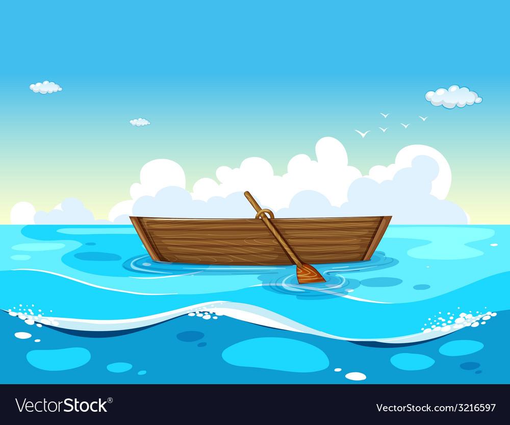 Boat and ocean vector | Price: 1 Credit (USD $1)