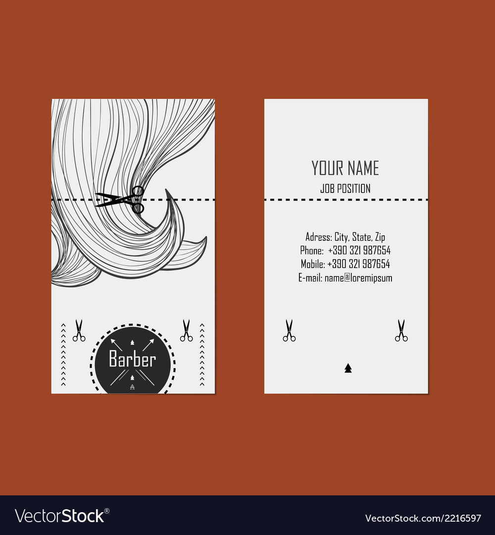 Business card hairdresser barber 2 vector | Price: 1 Credit (USD $1)