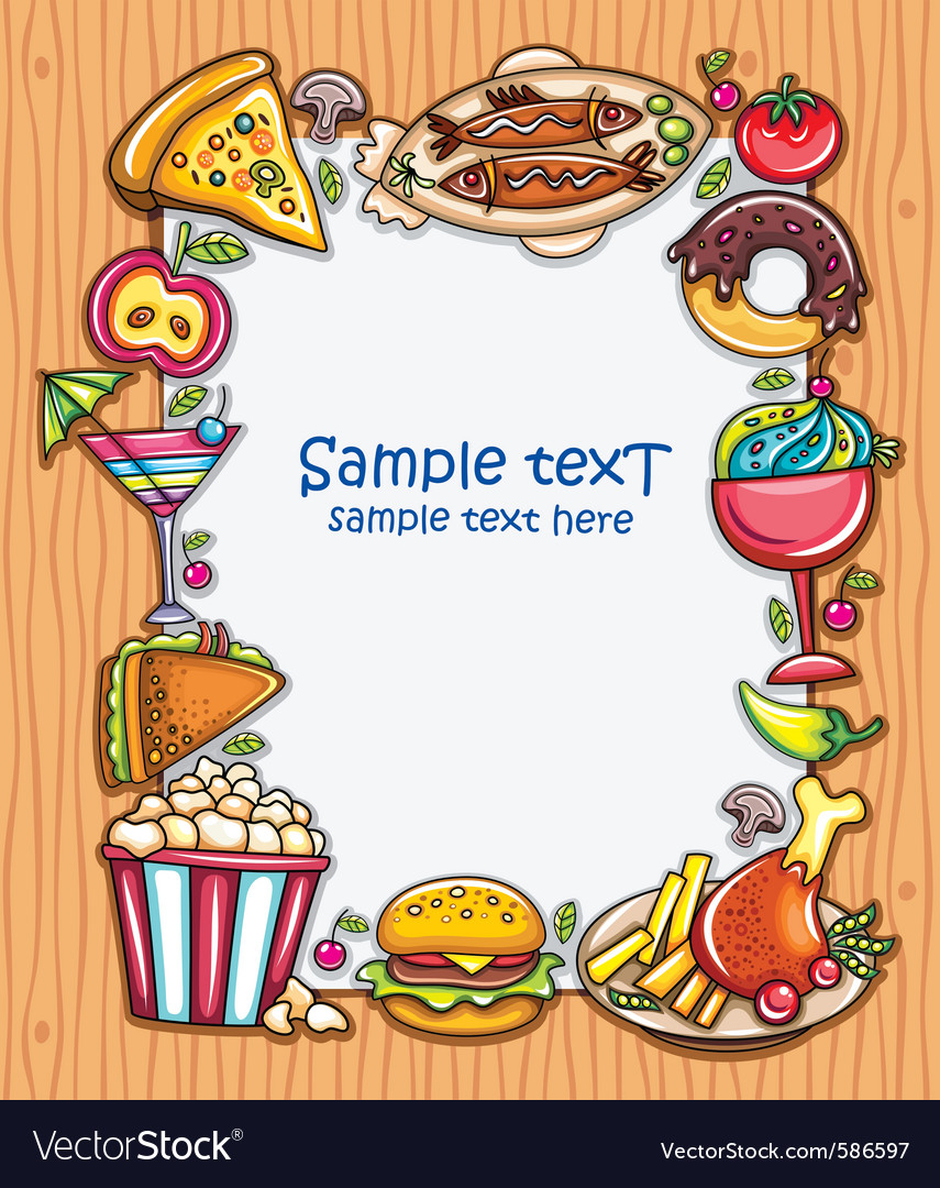 Food frame vector | Price: 3 Credit (USD $3)