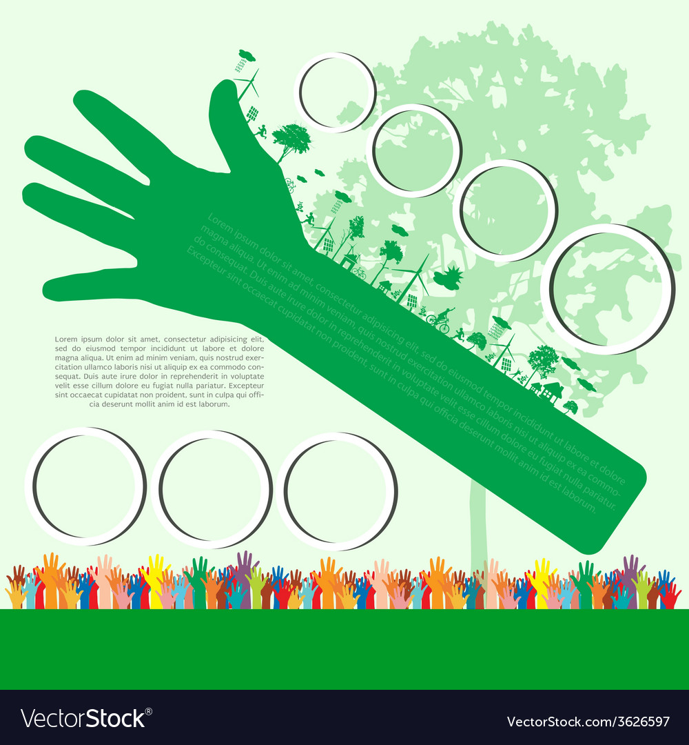 Go green concept save world vector | Price: 1 Credit (USD $1)