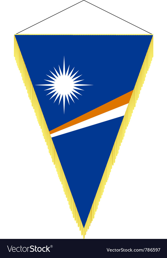 National flag of marshall islands vector | Price: 1 Credit (USD $1)