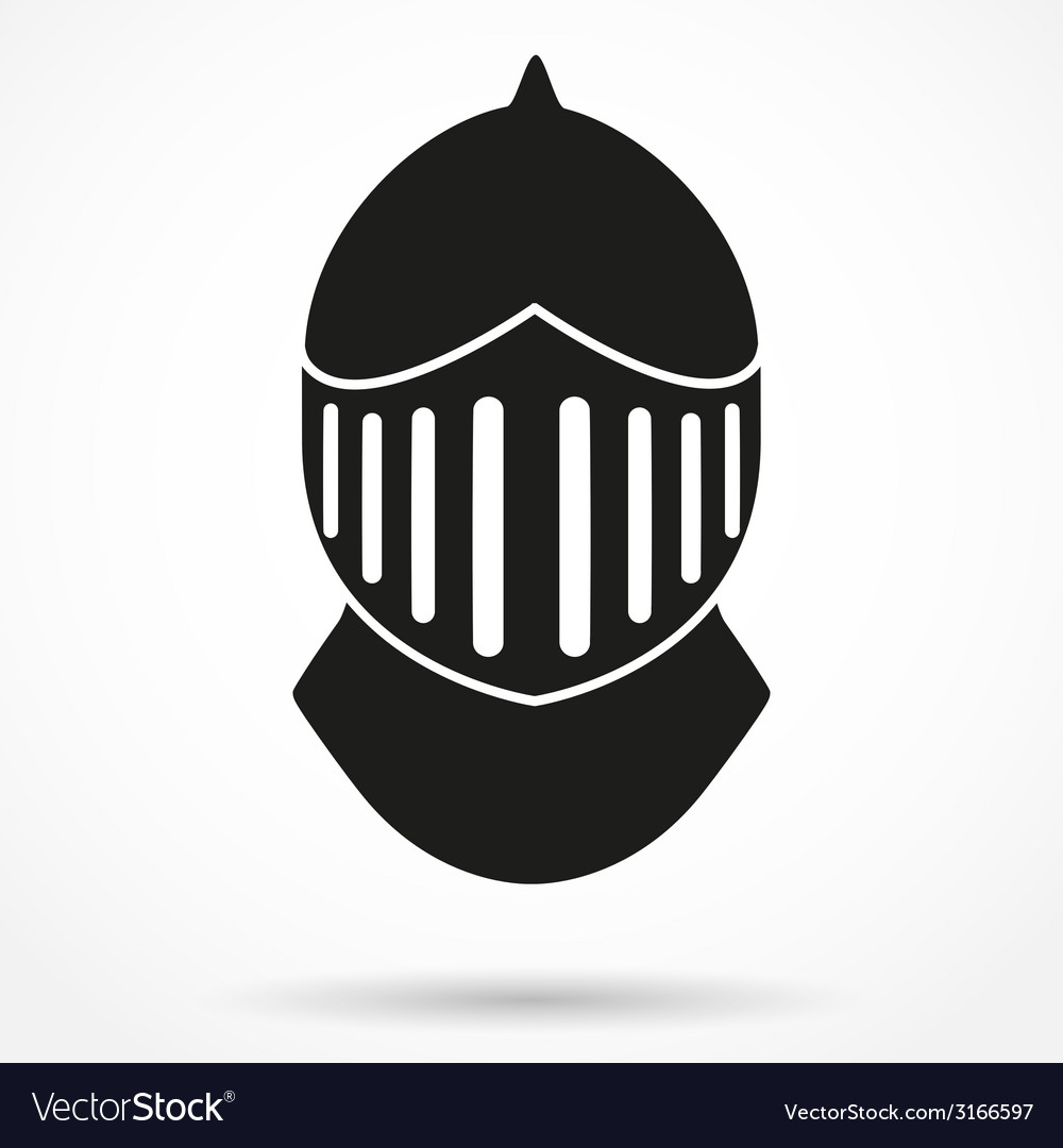 Silhouette symbol of knights helmet vector | Price: 1 Credit (USD $1)