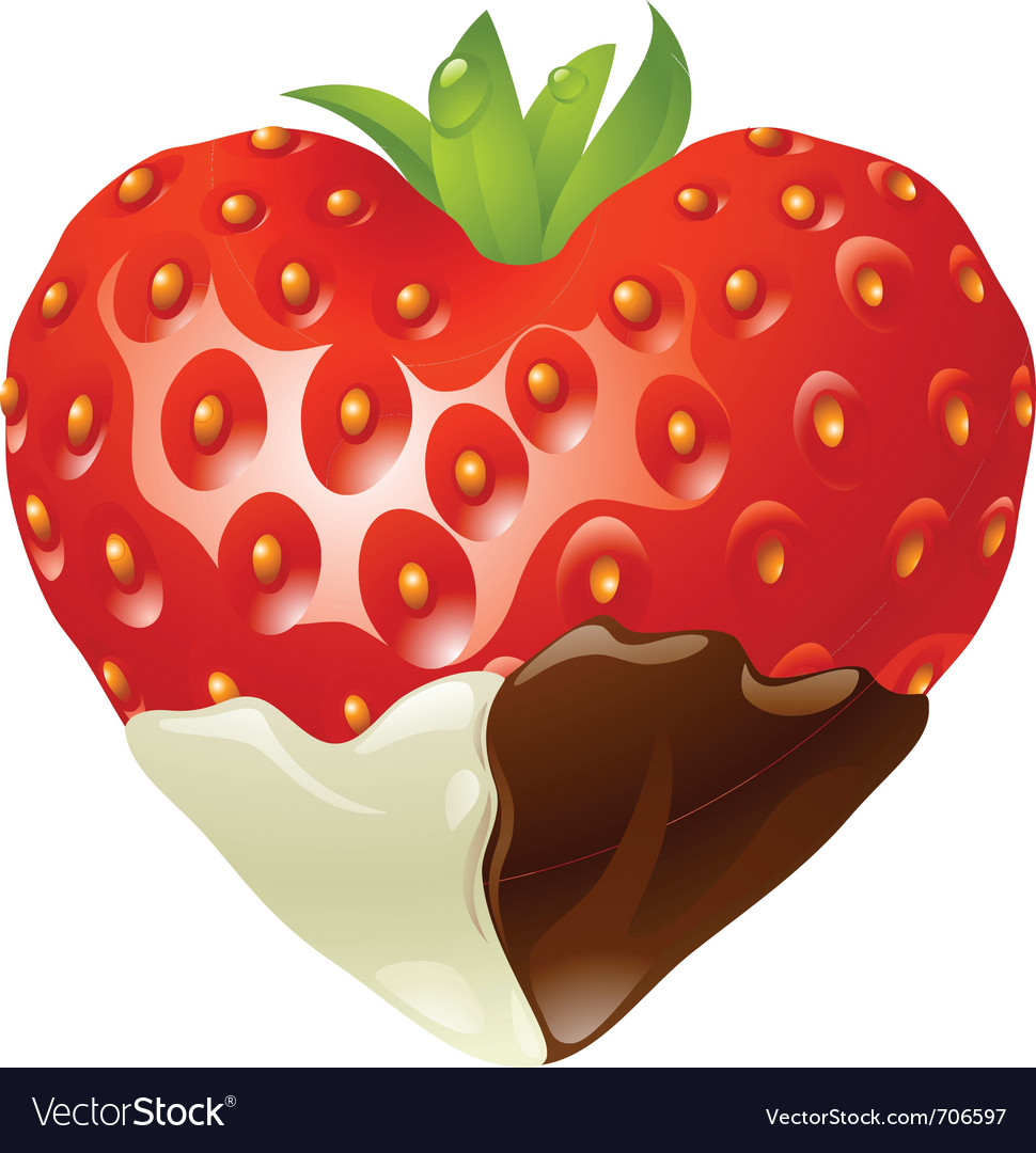 Strawberry chocolate vector | Price: 3 Credit (USD $3)