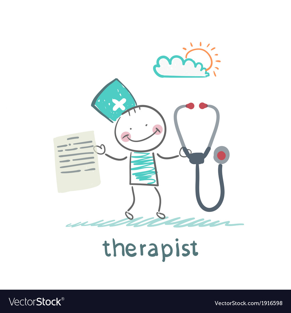 Therapist with a folder and stethoscope vector | Price: 1 Credit (USD $1)