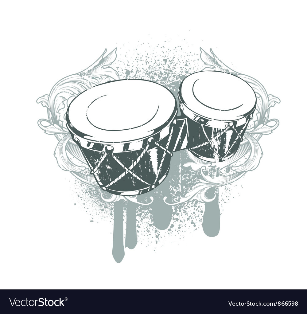 Drums emblem vector   Price: 1 Credit (USD $1)