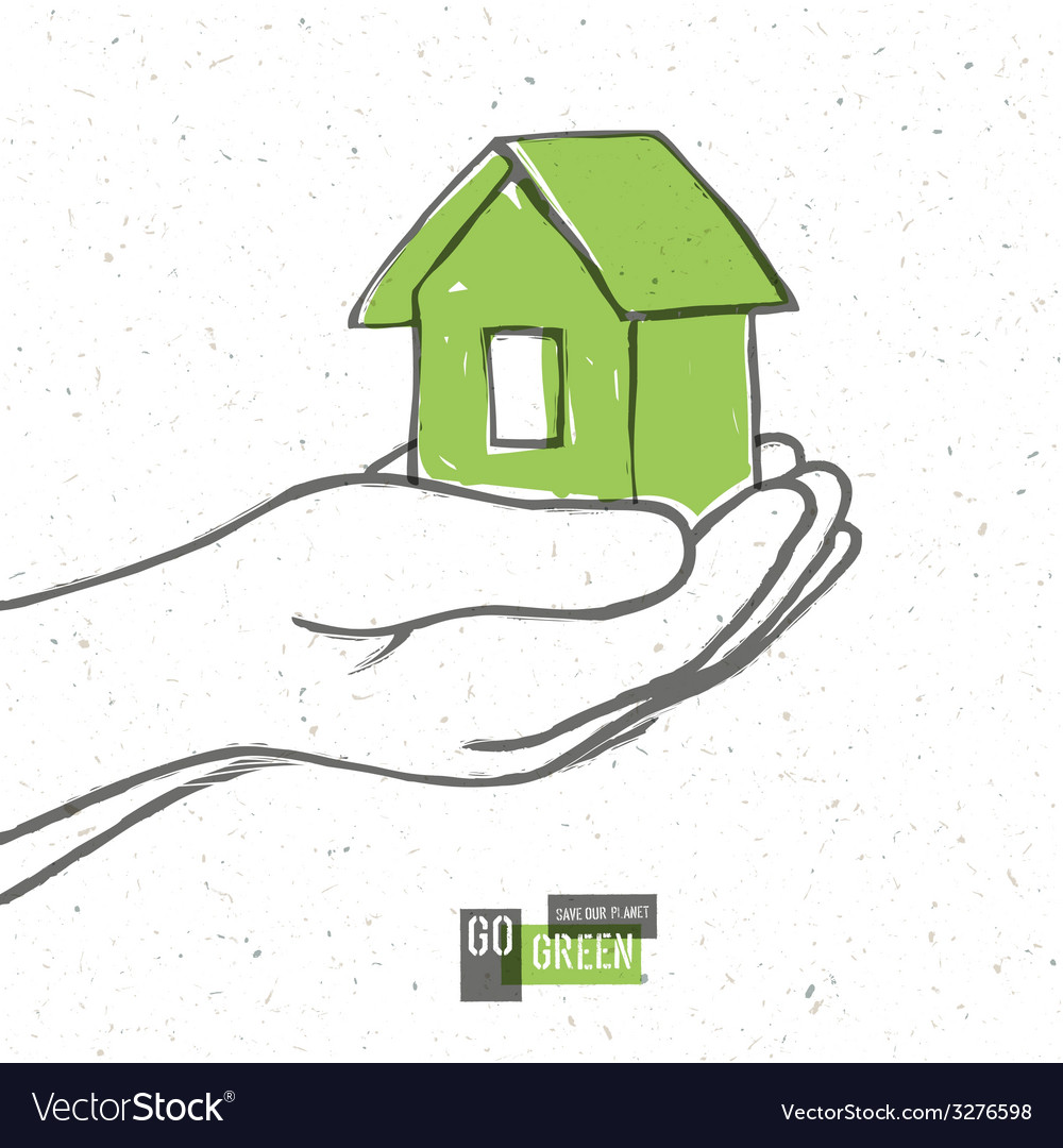 Eco house concept vector | Price: 1 Credit (USD $1)