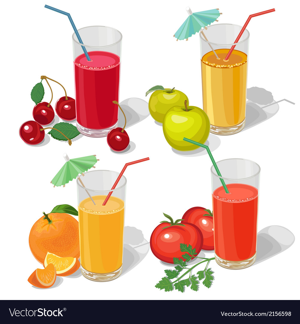 Set juices vector | Price: 1 Credit (USD $1)