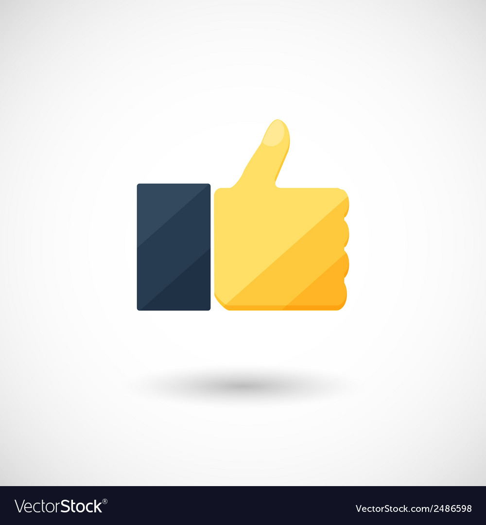 Thumb symbol with a shadow vector | Price: 1 Credit (USD $1)